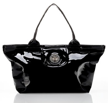 Tote-Ally Black Patent Leather, marc by marc jacobs