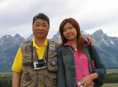 Sharon Ng and father - archive pic from Simon's blog