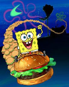 krabby patty and spongebob
