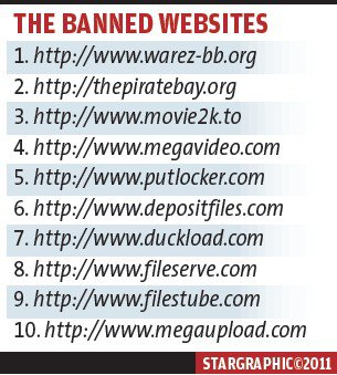 10 websites blocked by Malaysian Government