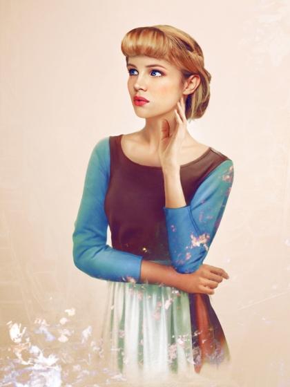 Cinderella Realistic Disney Princesses by jirkavinse.wordpress.com