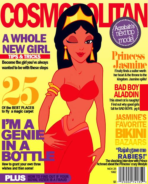 Jasmine Cover Girl Disney Princesses by andpop.com