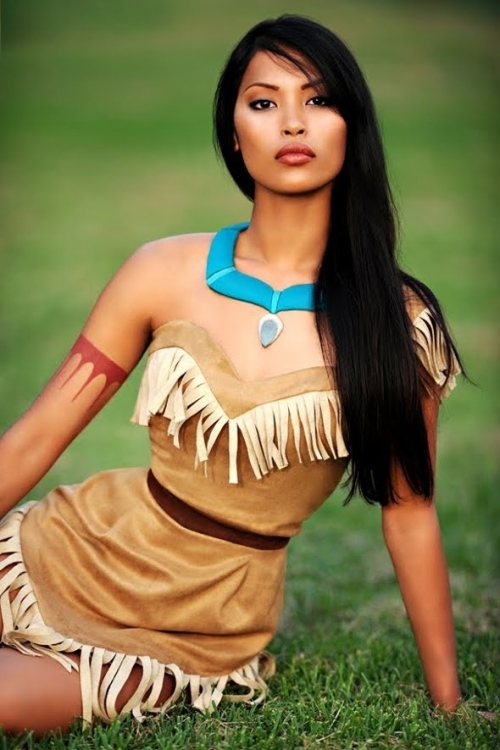 Pocahontas Real Girls as Disney Princesses by ryanastamendi.blogspot.com