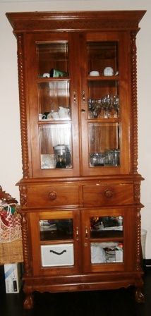 Carved, hardwood Display Cabinet @ RM1200