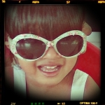 AA's niece in sunglasses by Accessorize