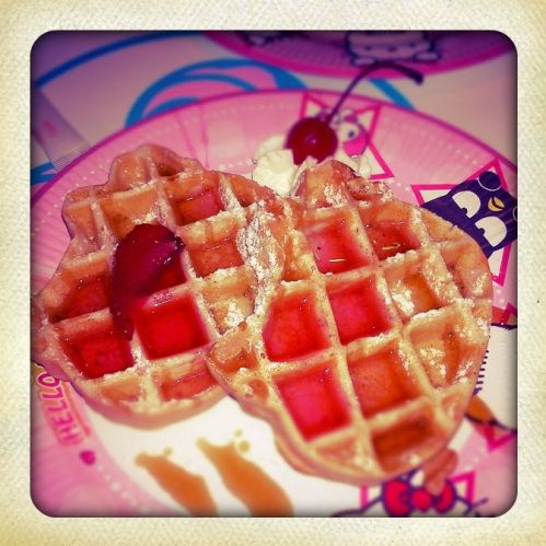 Waffles from Red Bow Cafe, Hello Kitty Town Malaysia