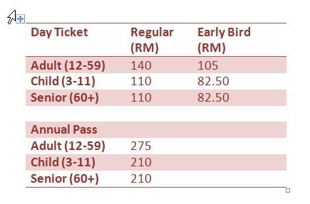 Legoland Malaysia ticket prices